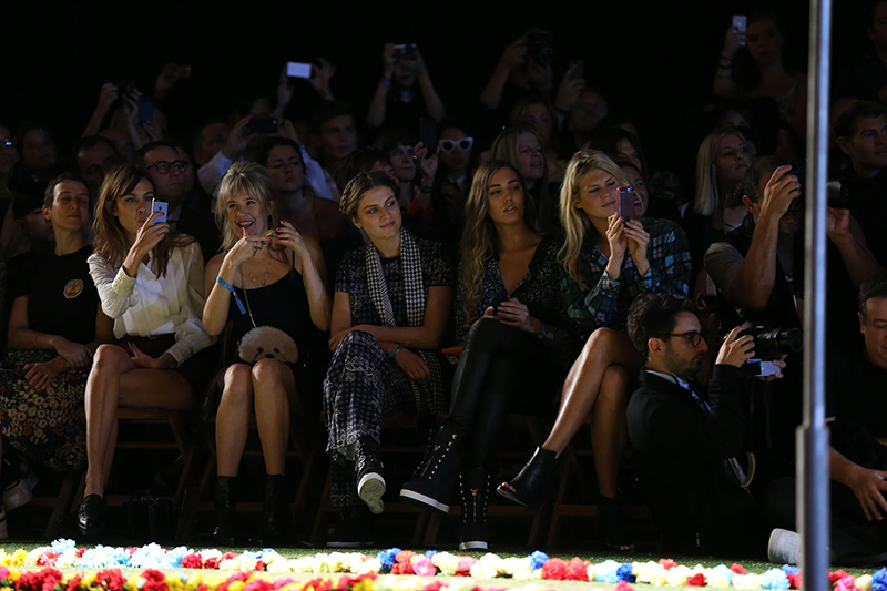 Sons & Daughters of Iconic Rock-n-Roll Musicians attend the Tommy Hilfiger Spring 2015 Runway Show